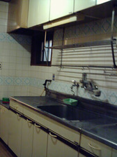 F邸キッチン改修工事前